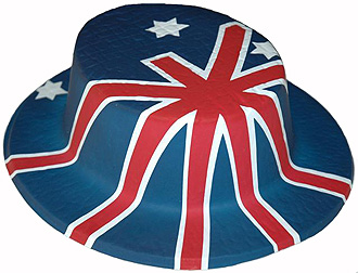 AUSTRALIAN FLAG BOATER HAT