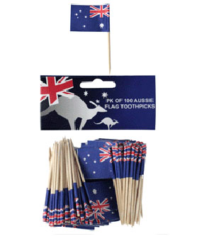AUSTRALIAN FLAG TOOTH PICKS PK OF 50