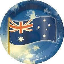 Australia print paper plate