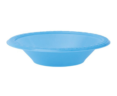 DISPOSABLE DESSERT OR SNACK BOWL AZURE BLUE - PACK OF 25