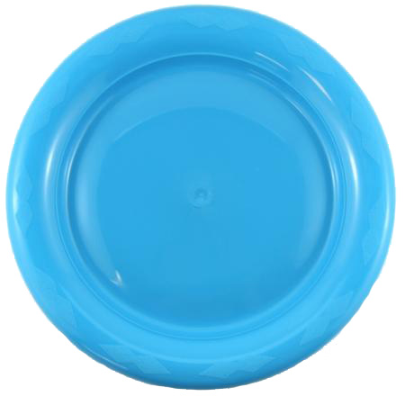 DISPOSABLE DINNER PLATE - AZURE BLUE PACK OF 25