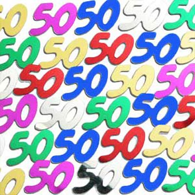 TABLE SCATTERS - 50TH MULTI COLOURED