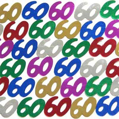 TABLE SCATTERS - 60TH  MULTI COLOURED