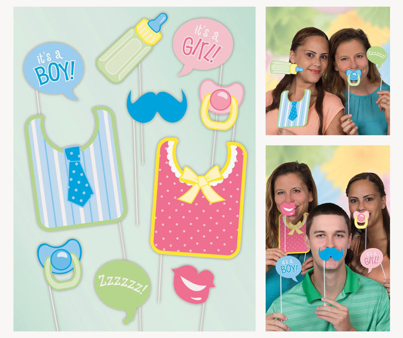 SELFIE PHOTO BOOTH PROPS - BABY SHOWER PACK OF 10
