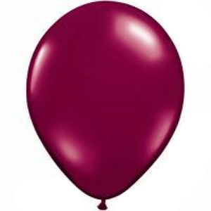 BALLOONS LATEX - MAROON/BURGUNDY JEWEL TONE PROFESSIONAL PK 100