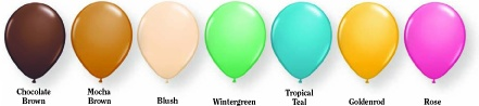 Fashion coloured balloons