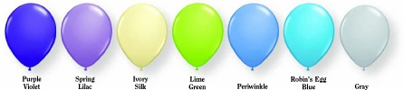 Fashion coloured baloons