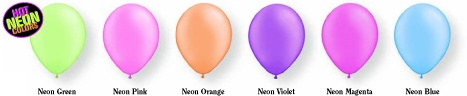 Neon Coloured Balloons