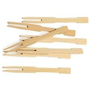 NATURAL BAMBOO COCKTAIL FORKS 9CM - PACK OF 100