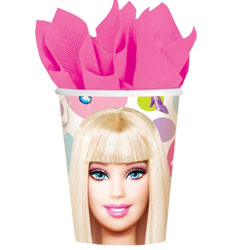 BARBIE CUPS - PACK OF 8