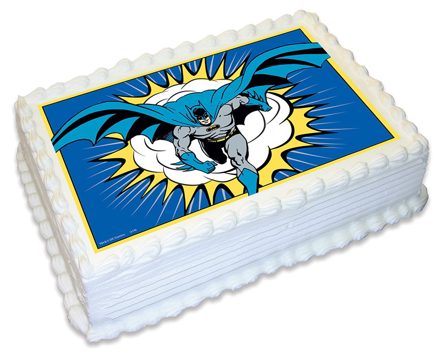 Batman Edible Icing Cake Topper - Party Supplies Online ...