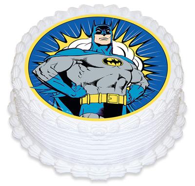BATMAN EDIBLE ICING CAKE TOPPER