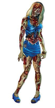 ZOMBIE GIRL GIANT 6FT JOINTED CUT OUT