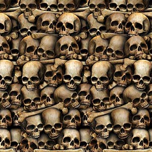 SCENE SETTER - HALLOWEEN/SCARY WALL DISPLAY CATACOMBS ROOM ROLL