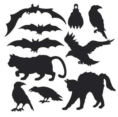 HALLOWEEN SILHOUETTES PACK OF 10