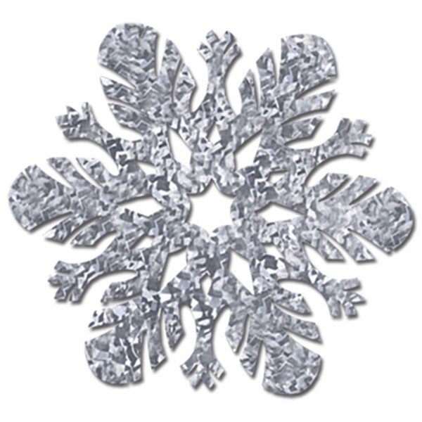 SNOWFLAKE CUT OUT HOLOGRAPHIC SILVER
