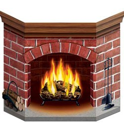 FIREPLACE - BRICK STAND UP PROP