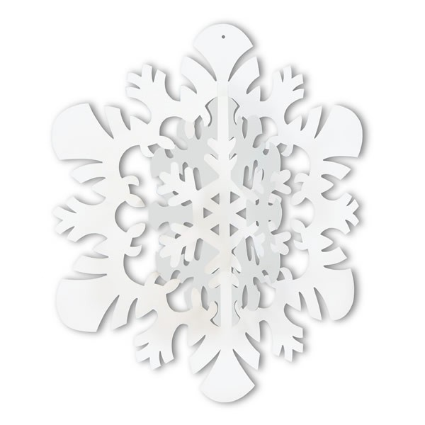 SNOWFLAKE HANGING 3D DECORATION