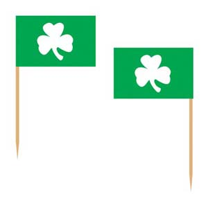 SHAMROCK FLAG TOOTHPICKS PACK OF 50