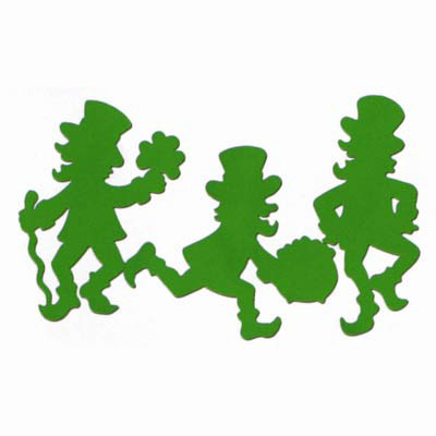 ST. PATRICK'S DAY LEPRECHAUN SILHOUETTES - PACK OF 3