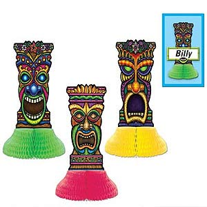 TIKI PLAYMATE CENTREPIECES WITH NAME TAG