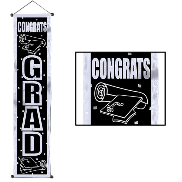 GIANT DOOR PANEL BANNER - CONGRATS GRAD VELVET