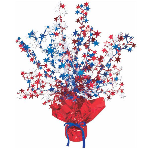 BALLOON WEIGHT - PATRIOTIC STARS GLITZ TABLE CENTREPIECE