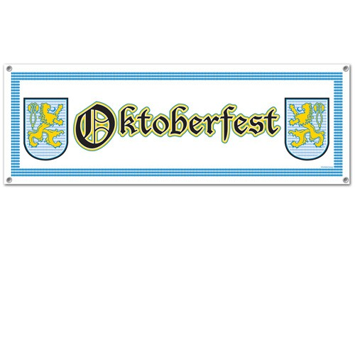 OKTOBERFEST BANNER ALL WEATHER MATERIAL - 'OKTOBERFEST'