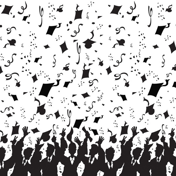 SCENE SETTER - GRADUATION CELEBRATION BLACK & WHITE BACK DROP