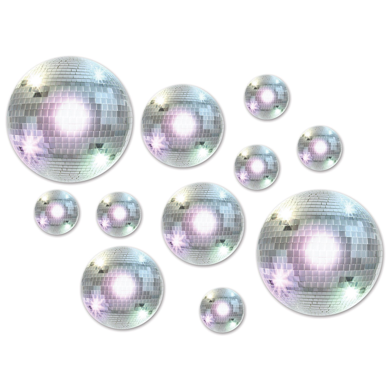 DISCO BALLS ASSORTED CUT OUTS - PACK OF 20