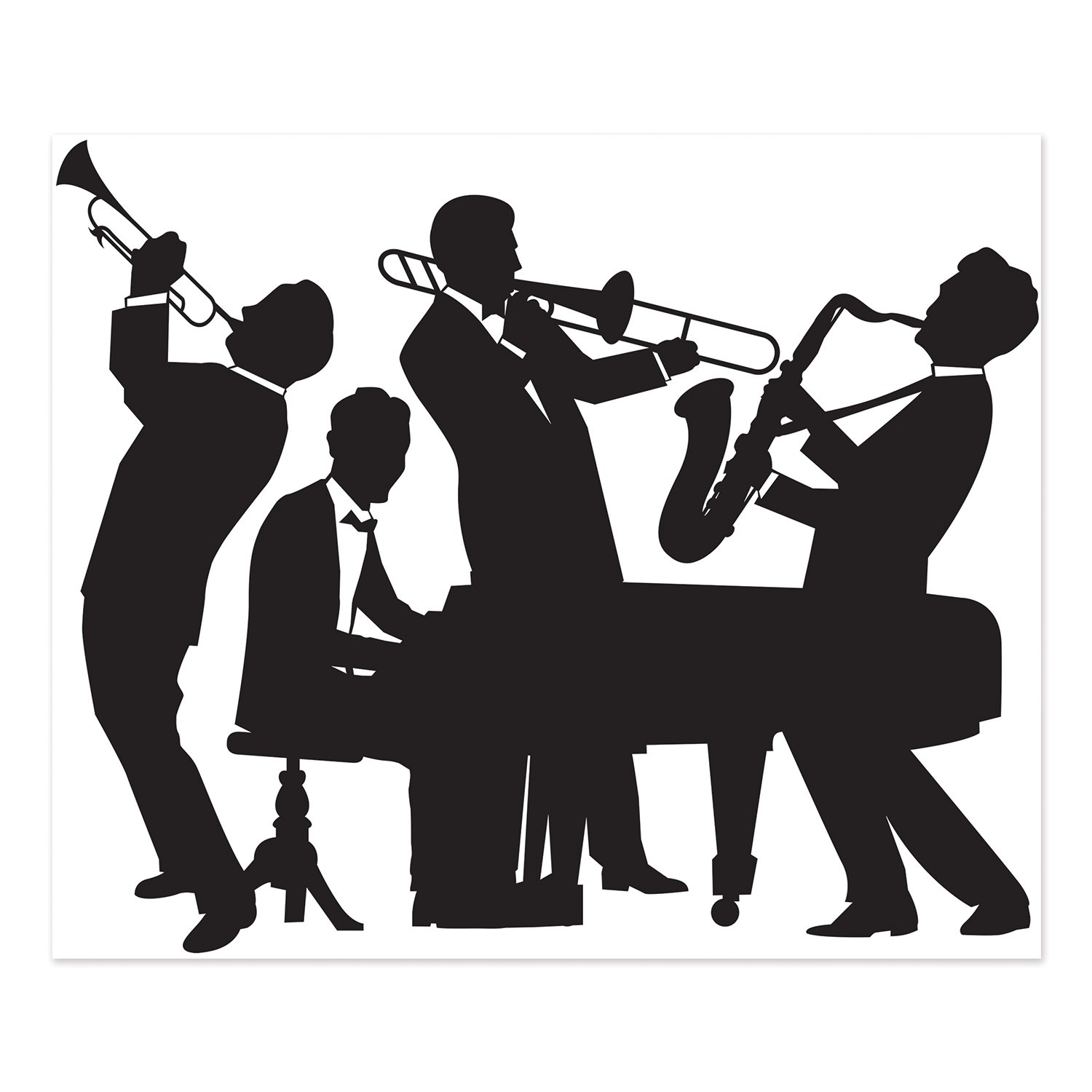 SCENE SETTER - 1920'S JAZZ BAND GATSBY STYLE WALL SILHOUETTE