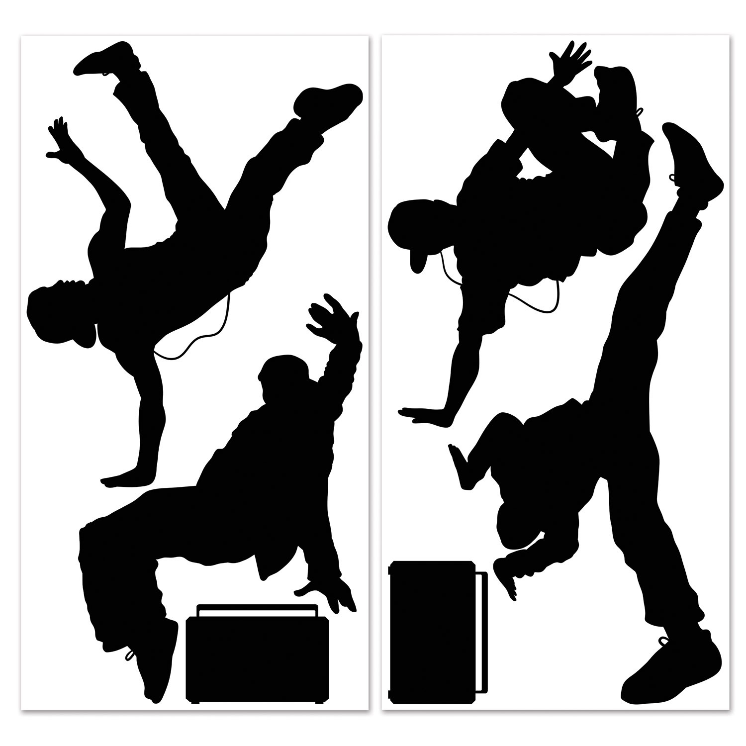 INSTA THEME - 80\'S BREAK DANCERS & BOOM BOX PROPS