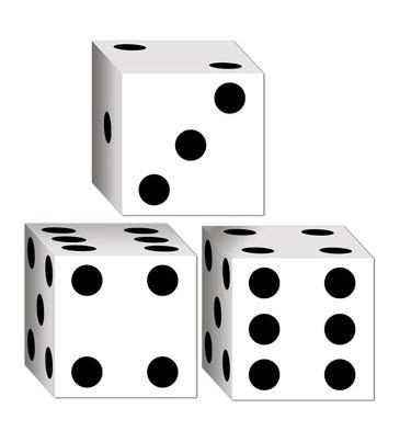 DICE FAVOUR BOXES - PACK OF 3