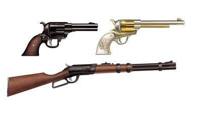 WILD WESTERN WEAPON GUN CUT OUTS - PACK OF 3