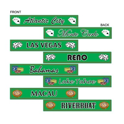 GAMBLING DESTINATIONS STREET SIGNS - PACK OF 4