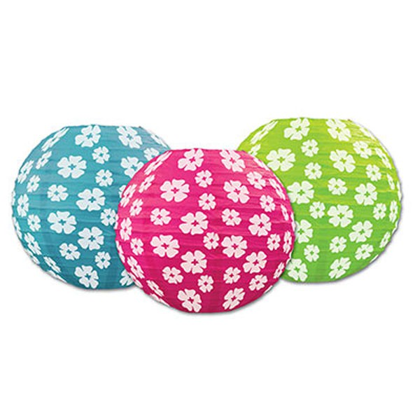 CHINESE PAPER LANTERN - HAWAIIAN HIBICUS FLOWERS PACK OF 3