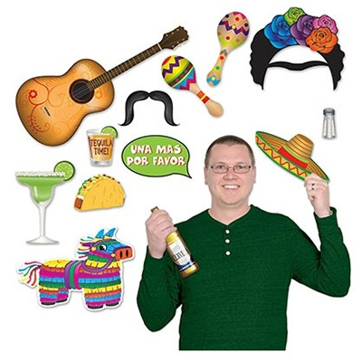 SELFIE PHOTO BOOTH PROPS - MEXICAN FIESTA PACK OF 13