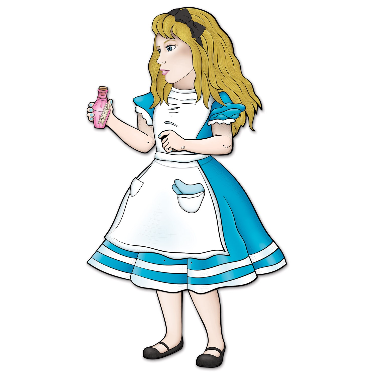 ALICE IN WONDERLAND ALICE JOINTED CUT OUT PROP