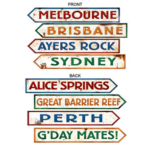 AUSTRALIAN STREET SIGNS PACK OF 4
