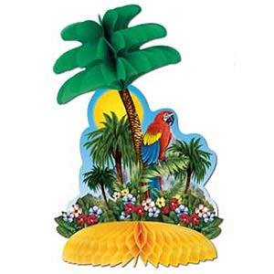 Image of Honeycomb Centrepiece Tropical Island
