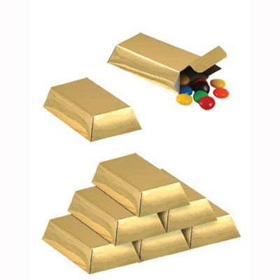 PARTY FAVOURS - GOLD BAR BOX PACK OF 12