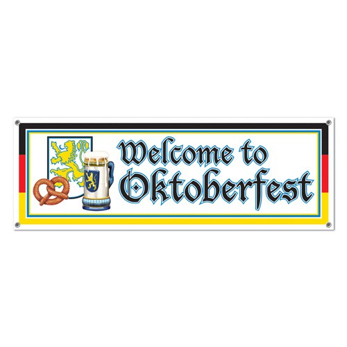 OKTOBERFEST BANNER ALL WEATHER - 'WELCOME TO OKTOBERFEST'