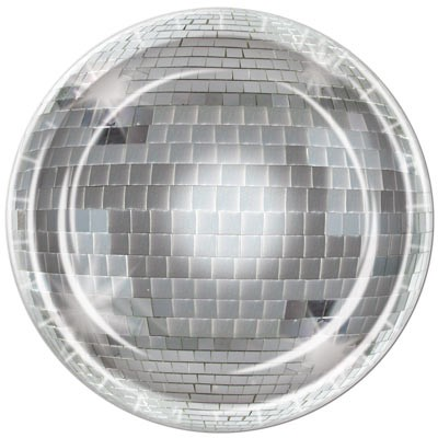 DISCO BALL PARTY PLATES - PACK OF 8