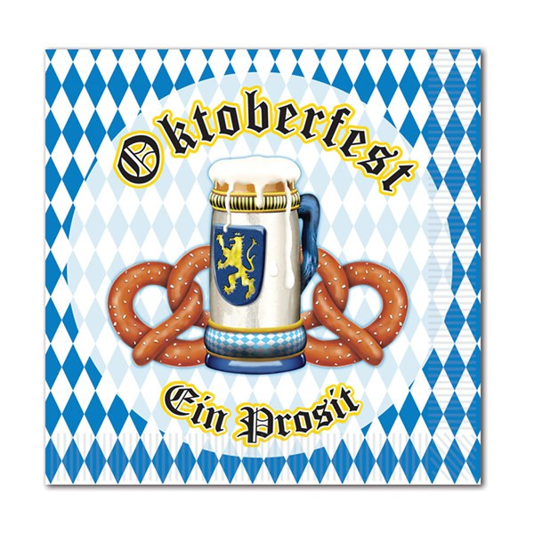 OKTOBERFEST COCKTAIL NAPKINS - PACK OF  16