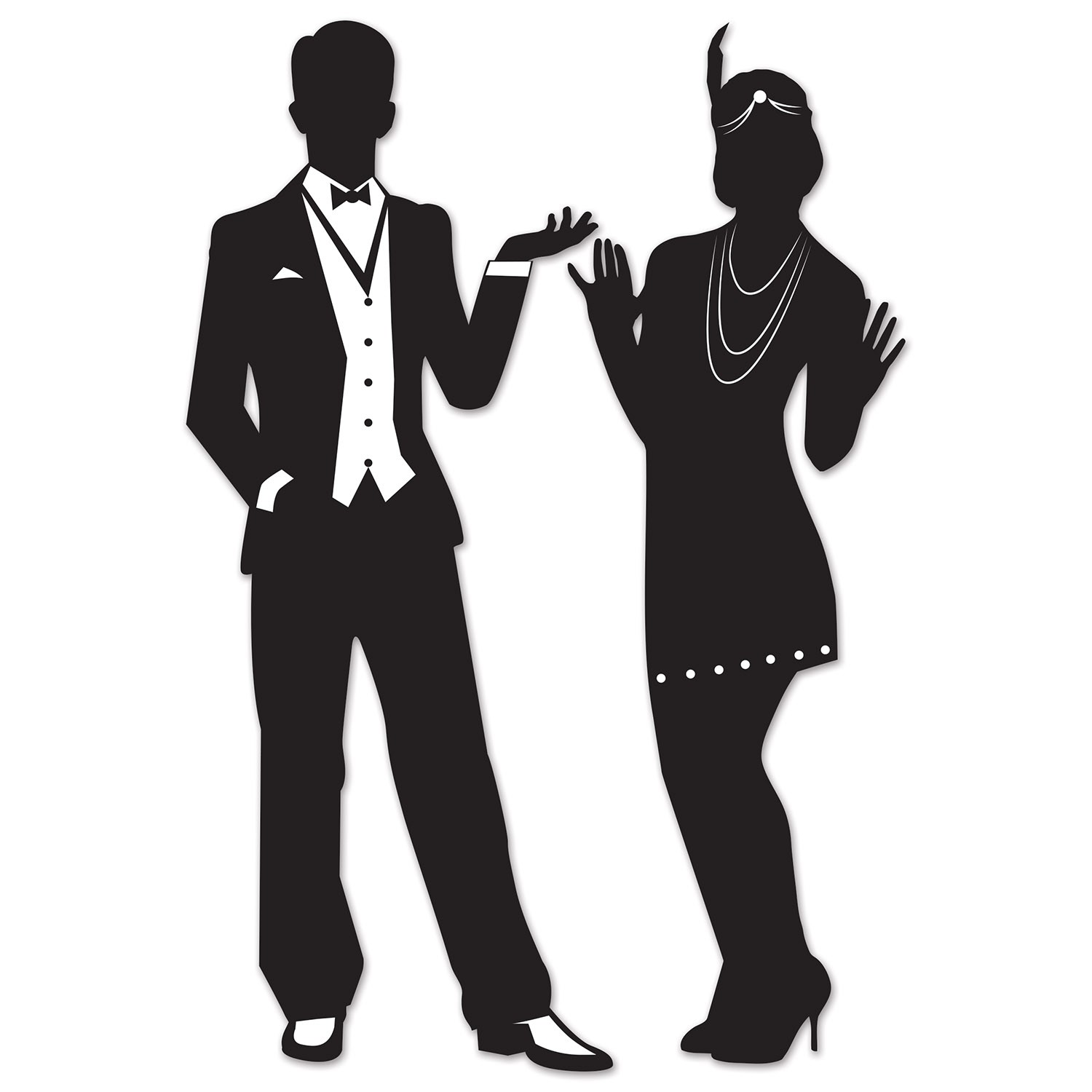 1920'S GREAT GATSBY STYLE MALE & FEMALE SILHOUETTES