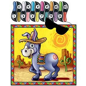 Image of Pin The Tail On The Donkey Party Game