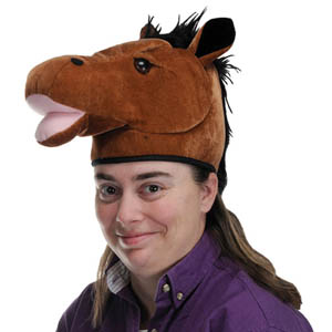 HORSE HEAD PLUSH FANCY DRESS HAT