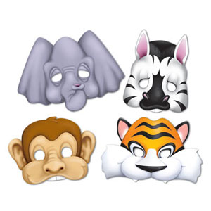 MASK - JUNGLE ANIMALS PACK OF 4