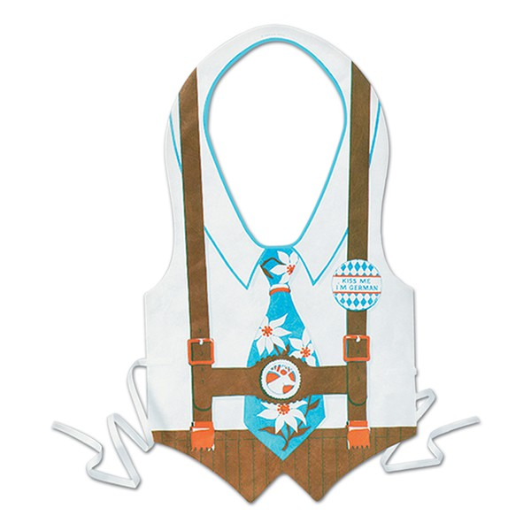 OKTOBERFEST MEN'S VEST WITH BLUE FLOWER TIE & BADGE