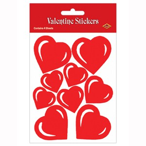 VALENTINES DAY STICKERS - PACK OF 27